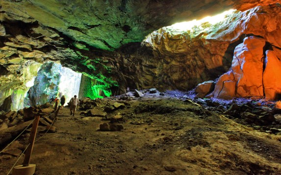 Sulphur Cavern in Graciosa Island, the Azores