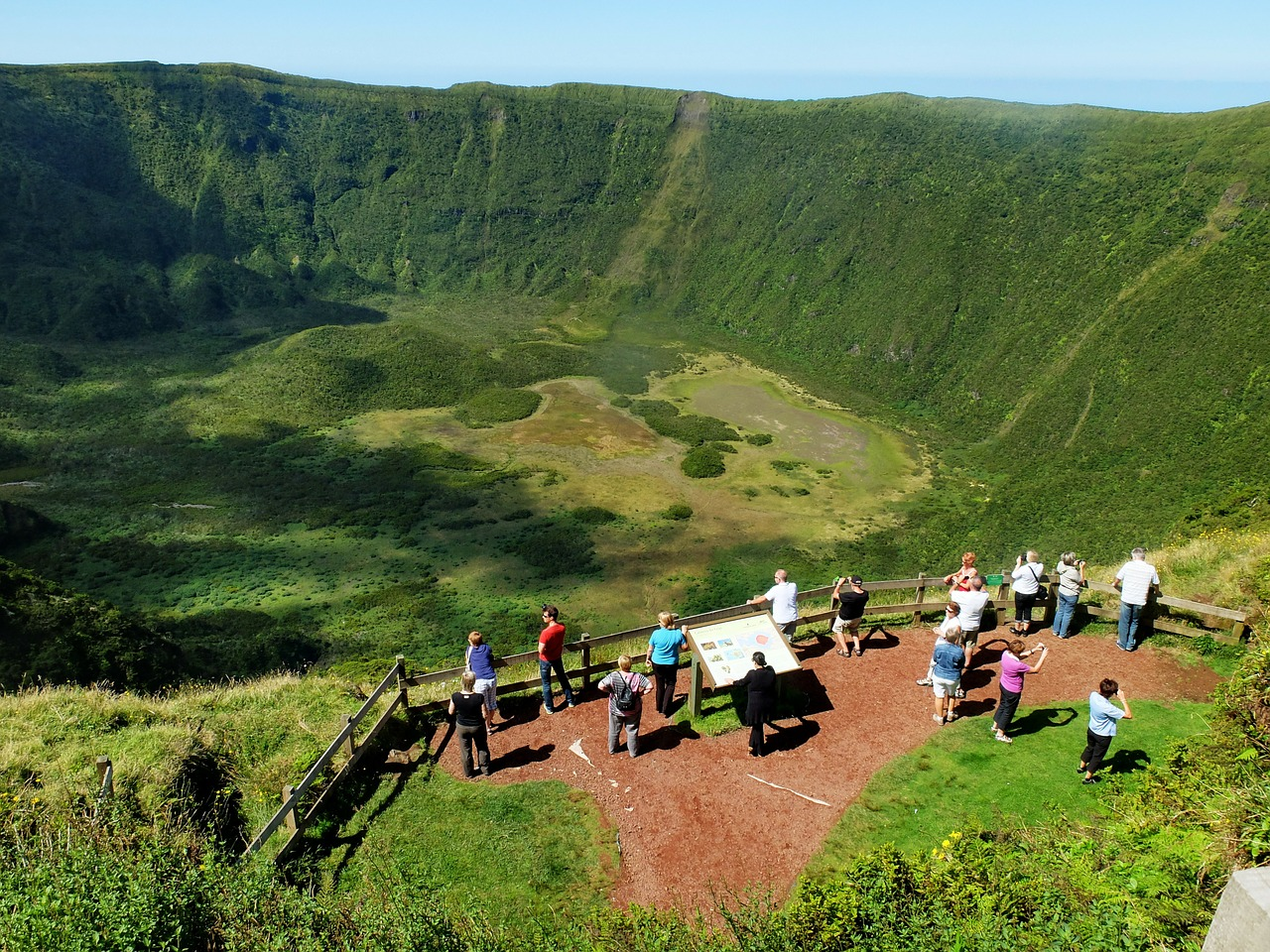 amazing crater in faial the azores