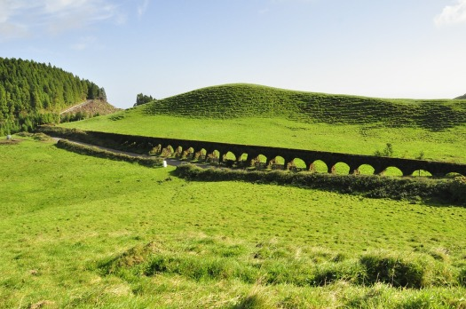 Sao Miguel Azores green landscape