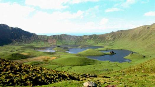 lagoa do caldeirao in Corvo Island Azores