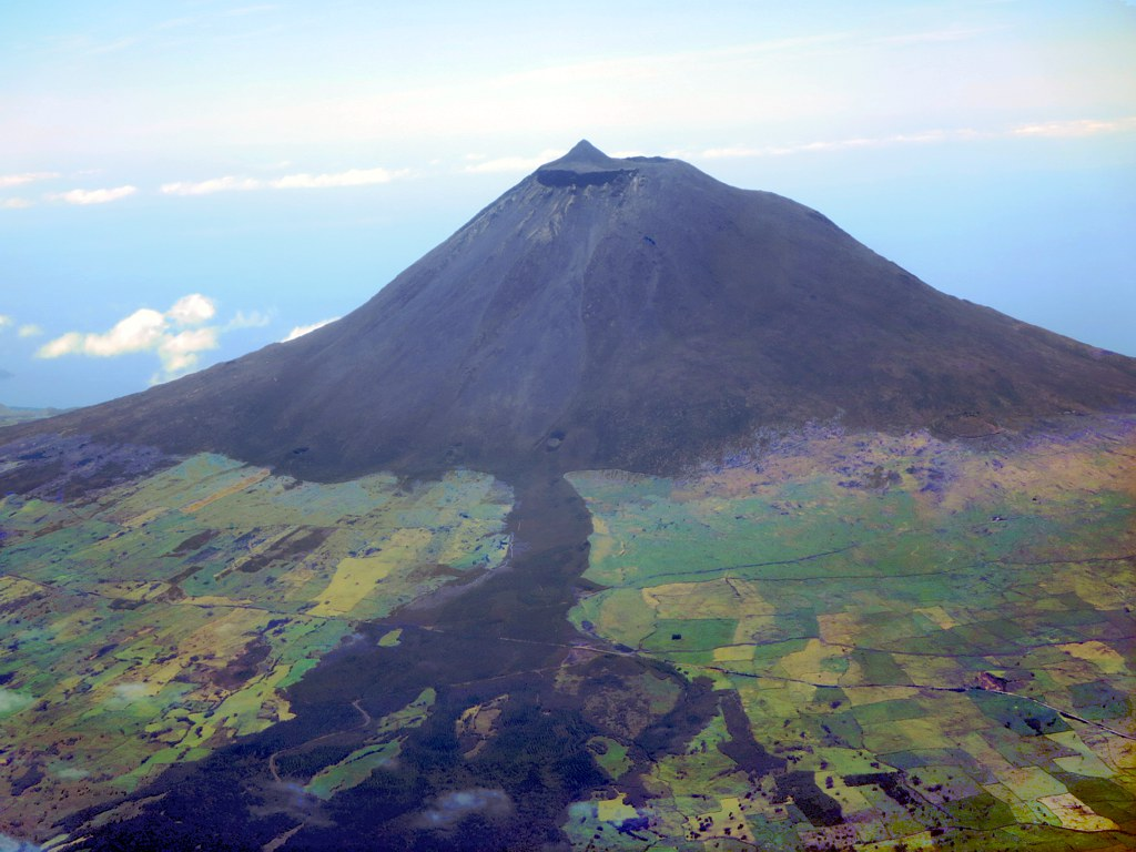 mountain peak in pico island azores