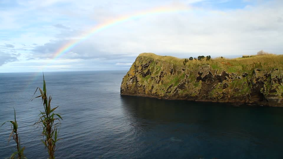 sao miguel island rainbow
